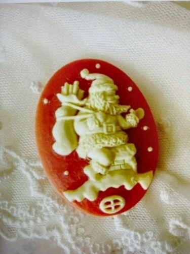 Cake Icing MINI Father Christmas Santa Claus   Silicone Mould Mold M206
