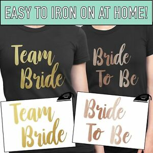Team-Bride-Iron-On-T-Shirt-Transfer-Bride-To-Be-Tribe-Squad-Hen-Do-Party-Vinyl