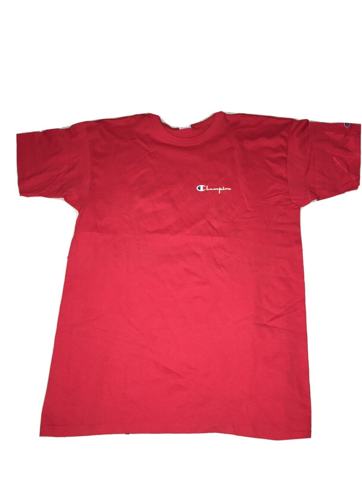 Vintage Champion T Shirt Mens Sz XL Made In USA Red Used Single Stitch
