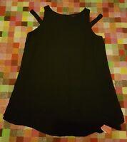 SO FABULOUS LITTLEWOODS LADIES FLOATY LAGENLOOK BLACK LONG TOP/DRESS PLUS Sz 26