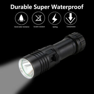 Waterproof 10000LM XML T6 LED Scuba Dive Flashlight Torch Light Underwater 100m