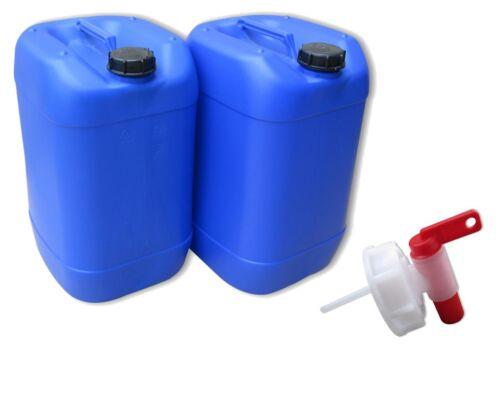 2 x 25 L Kanister blau Camping Outdoor Trinkwasserkanister lebensmittelecht NEU.