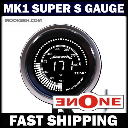 """52mm 2/"""" Black 7 Color 0-60 PSI Turbo Diesel Boost Gauge Super Fast Processor"""
