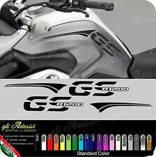 Kit Adesivi Fianco Serbatoio Moto BMW R 1200 gs LC con fasce monocolore