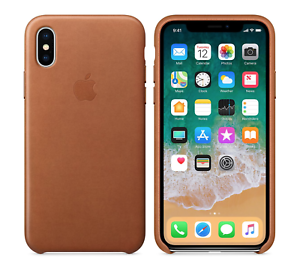 Saddle Brown GENUINE ORIGINAL OFFICIAL Apple Leather Case iPhone X SEALED RETAIL
