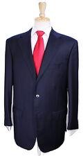 * ZILLI * Very Recent Solid Navy Blue 2-Btn Handmade Luxury Wool Suit  44R