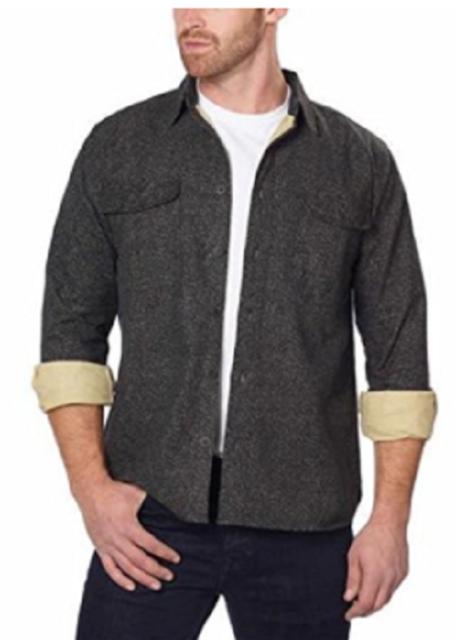 Freedom Foundry Men's Chamois Flannel Shirt-Black