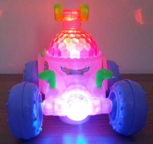 Bump /& Go Stunt 360 giri Rosa Stunt Car DISCOTECA luci /& musica bambino bambina giocattoli
