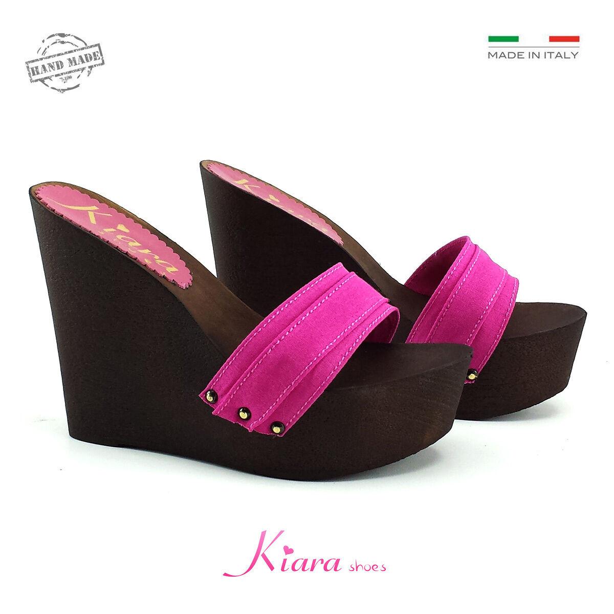 Zeppe Zatteroni Zoccoli Fuxia - Schuhe Made in  N. da 35 a 41 - Tacco 13