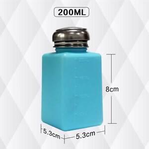 200ML-Empty-Pump-Dispenser-Bottle-Liquid-Nail-Art-Polish-Acetone-Remover-A5CX