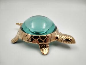 Superbe-loupe-tortue-en-laiton-et-verre-neuve-longueur-15cm