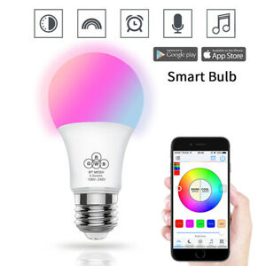Bluetooth-Smart-LED-Light-Bulb-E27-Dimmable-RGB-CCT-For-Android-IOS-iPhone-Home