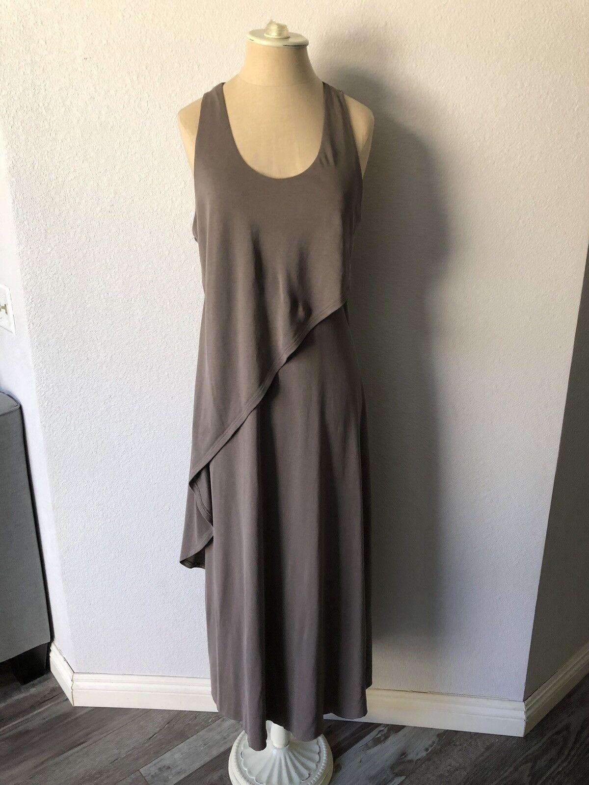 BCBGMAXAZRIA Grey Sleeveless Full Length Maxi Layered Dress Size XXS