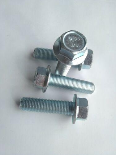 4 M12-1.25 x 45 mm Metric Hex Flange Bolts Grade 10.9 zinc Europa automotive