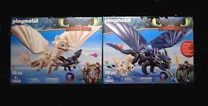 Playmobil Dragons 3 Set 70037 70038 Fury légère sans dent, avec bébés Nouveau / OVP