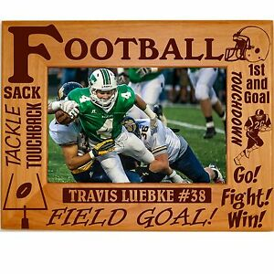 image is loading personalized football wood picture frames 4x6 5x7 8x10