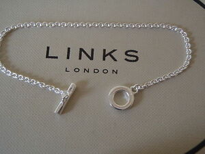 Image Is Loading Genuine Links Of London Sterling Silver Tbar Pendant