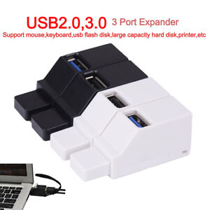 Universal Portable Mini High Speed Splitter Box 3 Ports USB 2.0 3.0HubAdaptersES