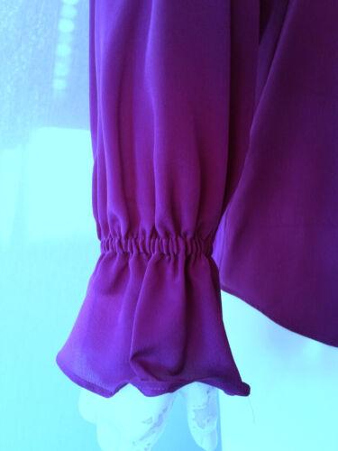 100 34 Bluse fuchsia Shirt uk6 Hallhuber neu Gr seide YdIEPdwx