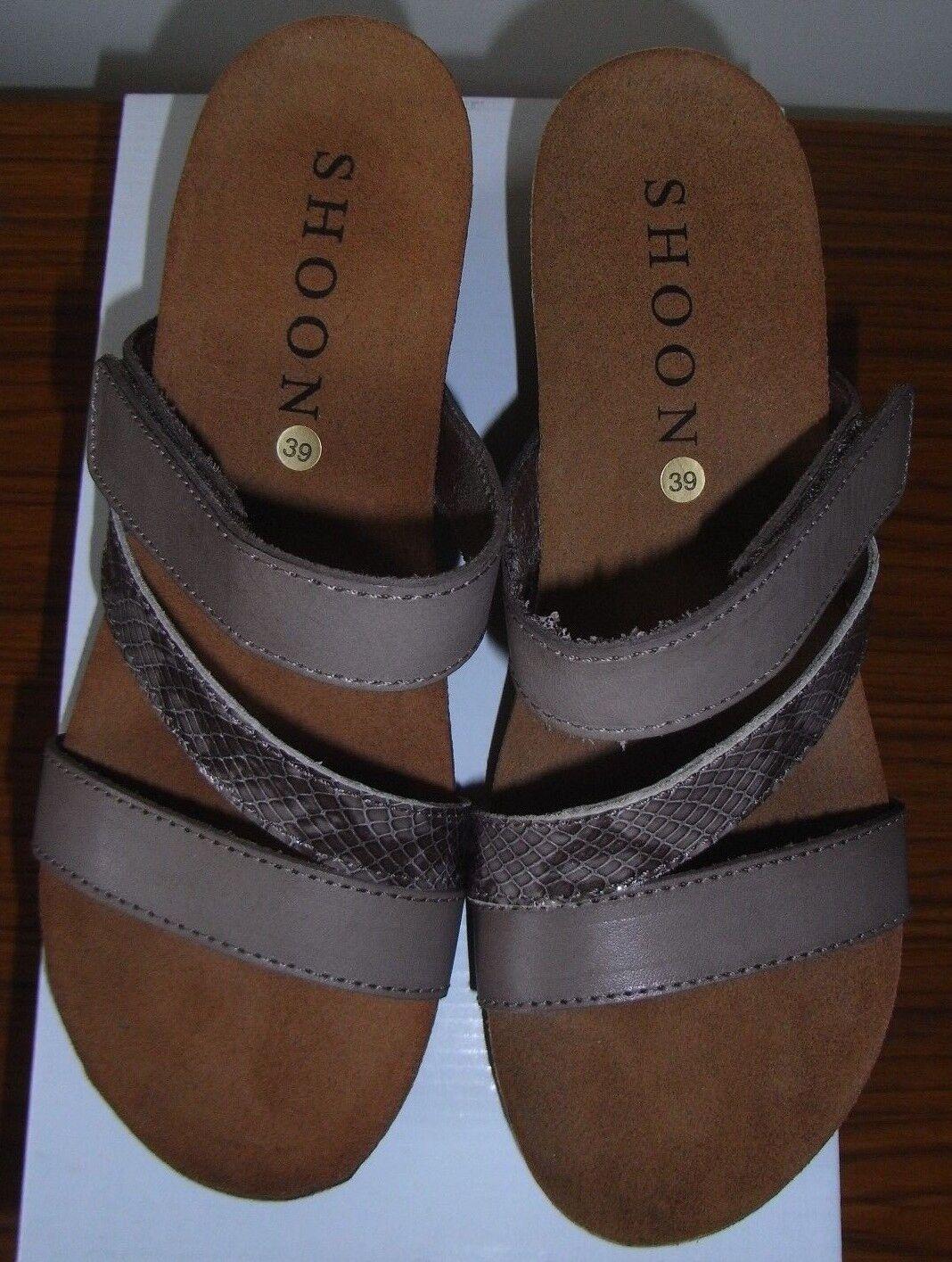 Señoras Shoon Granada Taupe Zapatos Talla EU 39 UK 6