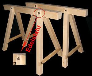 Clever Steinmetzwerkzeug 2 Neue Holzböcke,arbeitsbock,stützbock,montagebock,gerüstbock Sonstige