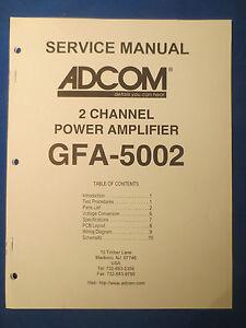 adcom gfa 5002 service manual with schematic factory original ebay rh ebay com Adcom GFA Car Amplifier Adcom GFA Car Power Amplifier