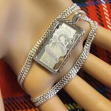 New Sterling Silver dragon & horse bullion pendant with 10g fine silver & chain