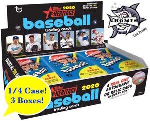 KANSAS-CITY-ROYALS-2020-Topps-Heritage-Baseball-1-4-Case-Break-4-3-Boxes
