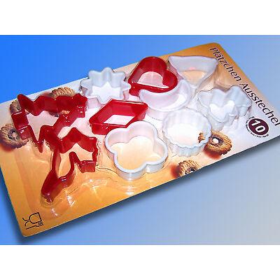 10 Piezas Molde De Extracción Set, Galleta Corta Pastas, Cortapasta Navidad