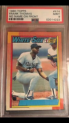 1990 Topps Frank Thomas No Name On Front Nnof Psa 9 Holy Grail Super Low Pop Ebay
