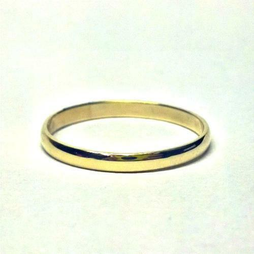 Gents 9ct Yellow Gold D-Shape Heavy Weight Wedding Ring in sizes Q-Z+4