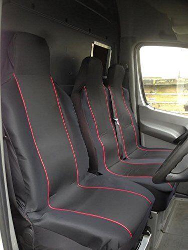 Doble Renault Trafic Business-Heavy Duty rojo recortar Van Fundas De Asiento-Single
