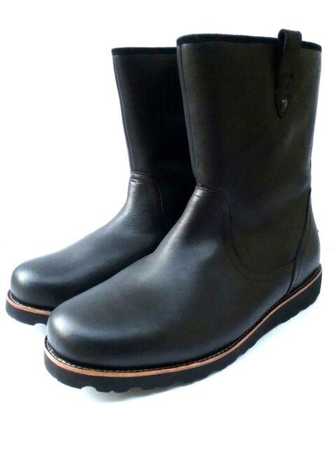 92be1f5b859 UGG Stoneman TL Men's Waterproof Black Leather Sheepskin Boots Size US 17