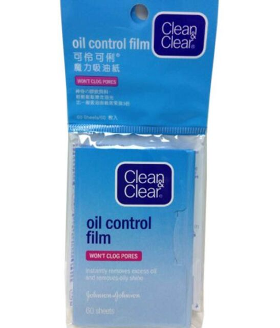 Clean and Clear Oil Control 60 Silky Blotting Paper Film Johnson & Johnson UK