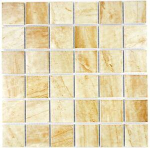 Détails sur Mosaïque Carreau Céramique travertin beige mat Carreaux Miroir  salle de bains 16-1202_b- afficher le titre d\'origine