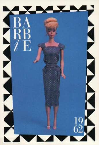 "Barbie Collectible Fashion Trading Card  /"" Navy Polka Dot Sheath /""  1962"
