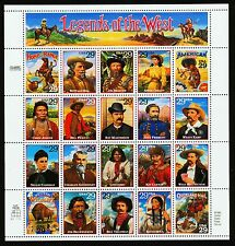 US.#2869 LEGENDS OF THE WEST COMMEMORATIVE  PANE OF 20 - VF (ESP#136)