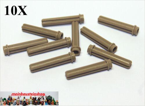 Noppe 3L Dunkelbeige NEU 10X Lego® Technic 6587 Kreuzachsen Achsen m Stopper