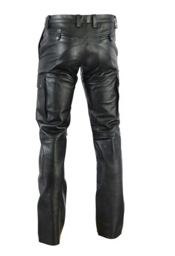 Cargo Pant Pantaloni in pelle leather trousers cuir Aw-720 Cargo Lederhose Nappa