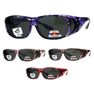 49395f8bd9f Image is loading Polarized-Womens-Rhinestone-Bling-Fit-Over-Floral-Print-