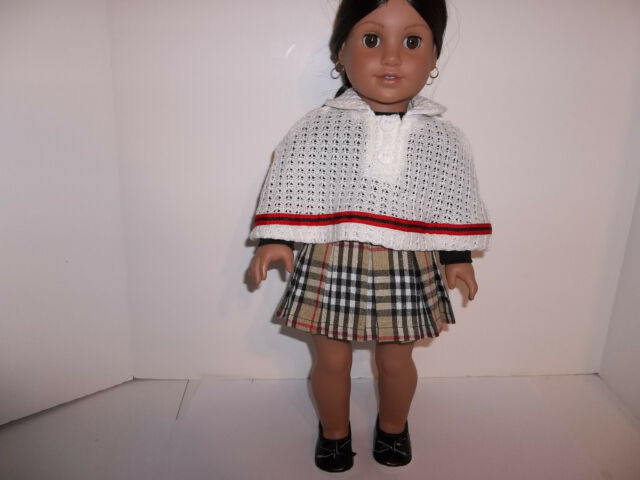 "RED BLACK CREAM Plaid Skirt Doll Clothes For 18/"" American Girl Debs"