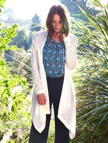 NOMADS Organic Cotton Classic Cascata Cardigan Estivo Blu Fair Trade * Vendita