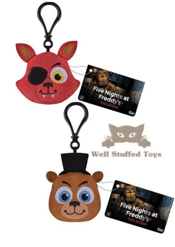 Five Nights at Freddy/'s Keyring Bagclip Plush FOXY AND FREDDY Stocking Filler