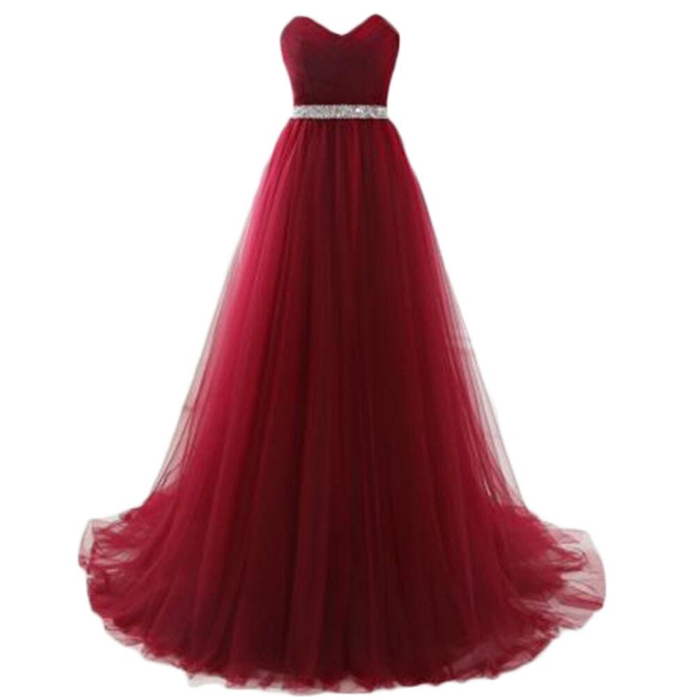 Neu Lang Cocktailkleid Ballkleider Abendkleider Formale  Party Kleid Gr 34-44