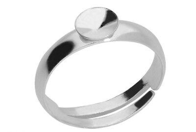 Silver stud earring 6 mm kh 35 1 pair