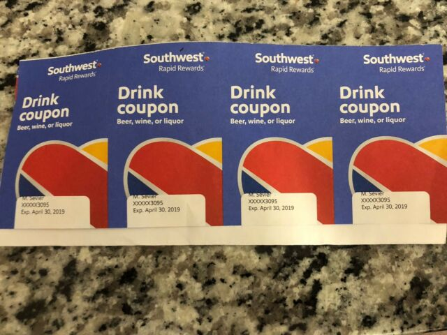 southwest drink coupons 4 - Expire April 2019
