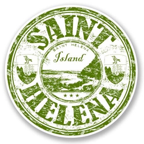 2 X 10 Cm Santa Elena Isla pegatina de vinilo de equipaje de viaje Tag portátil coche # 5741