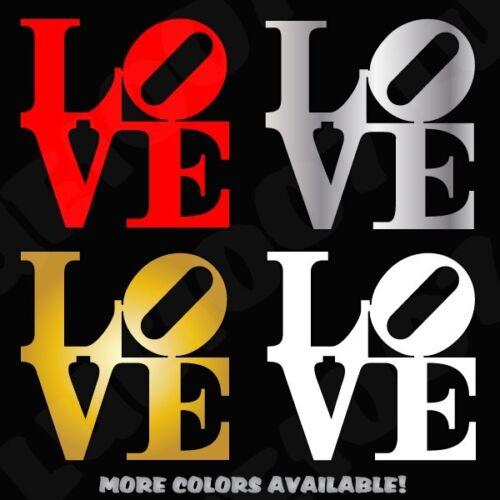 Love Park Vinyl Decal x2 Philadelphia Die Cut Vinyl Decal Love Bumper Sticker