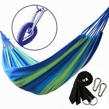 portable outdoor swing fabric camping beach hanging hammock canvas bed strong