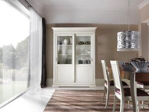 vetrina cristalliera credenza bianco/bianca libreria soggiorno | ebay - Vetrina Soggiorno Bianca